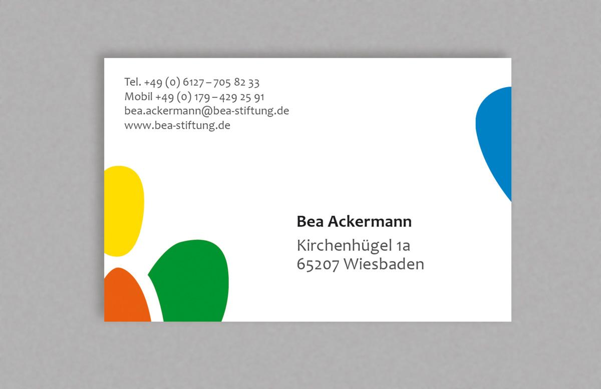 BeA-Stiftung - Visitenkarte - HERR ZAHM