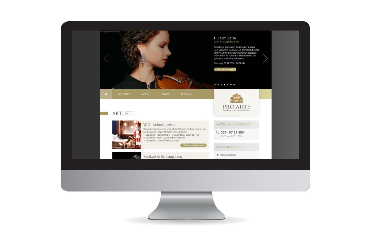 PRO ARTE - Neue Webseite