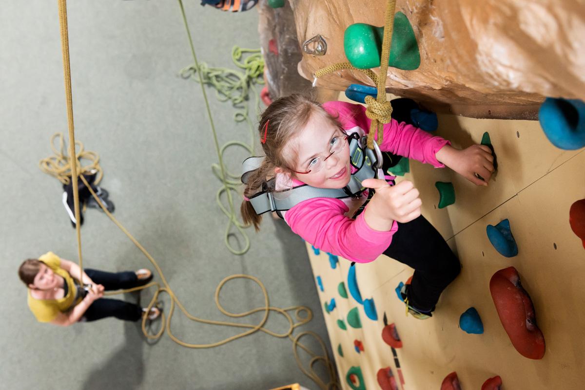Hoch hinaus - Klettern mit Handicap