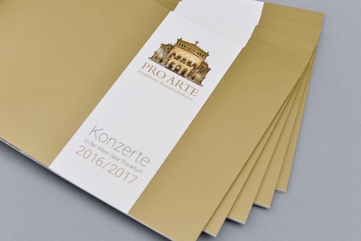 PRO ARTE - Konzertbroschüre mit neuem Look