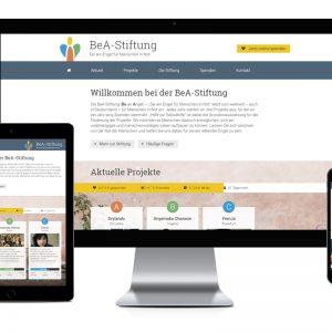 Webseite der BeA-Stiftung in neuem Glanz